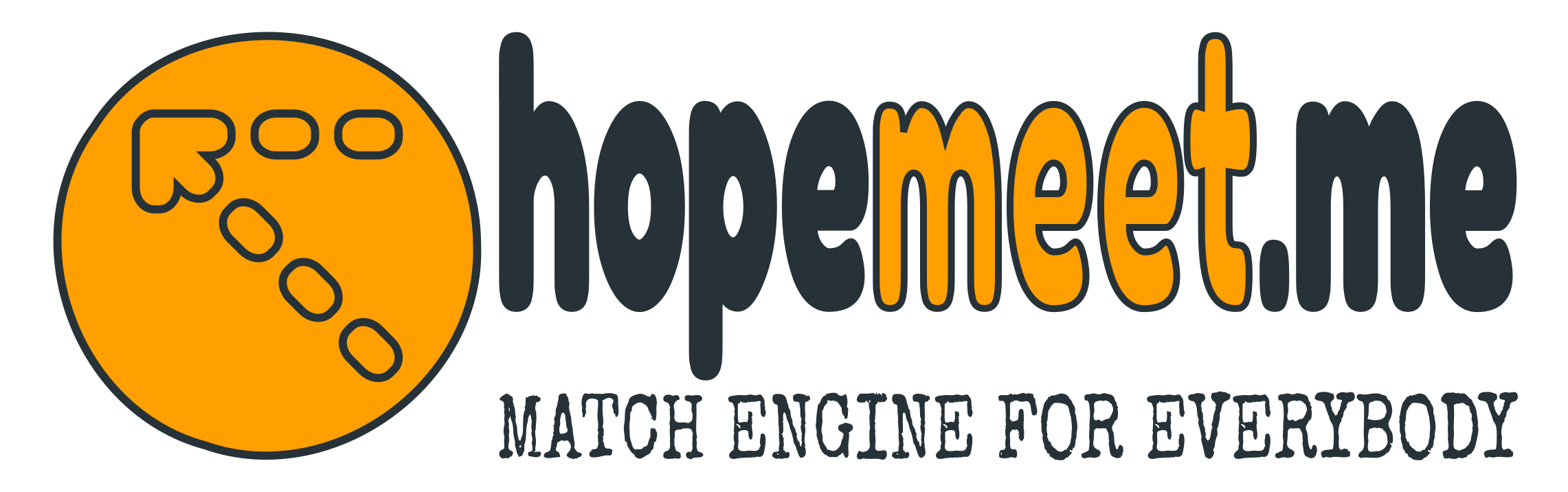 Hopemeet match engine logo; hopemeet.me - match engine for everybody