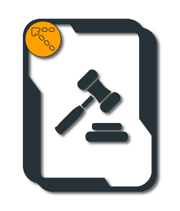 Hopemeet logo with gavel and block in frame