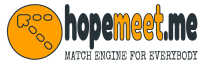 Hopemeet match engine logo with slogan